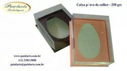 Cx. P/ Ovo de colher - 250 grs - Cartonagem (Pacote c/ 10 unidades)