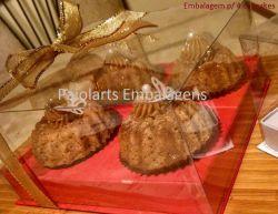 P/ 4 Cupcakes - Cartonagem
