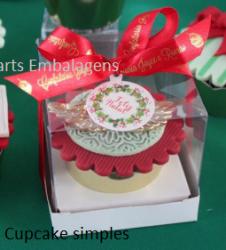 P/ 1 Cupcake - 8,0 x 8,0 x 8,0 - Simples BRANCO