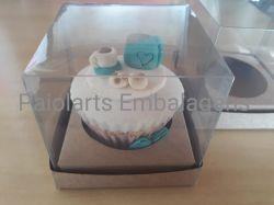 P/ 1 Cupcake - 8,0 x 8,0 x 8,0 - Simples kraft