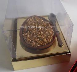 Cx. P/ 1 ovo de colher de 100 a 150 grs - Simples ouro laminado  (Pacote c/ 30 unidades)