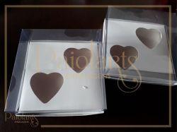 Cx. p/ 2 corações de 200 grs - Simples / Branco