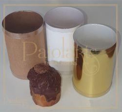 Diam. 10,0 x 15,0 Altura - P/ Mini Panetone - Kraft, Ouro ou Branca