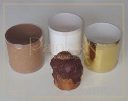 Diam. 10,0 x 10,0 Altura - P/ Mini Panetone - Kraft, Ouro ou Branca