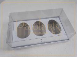 Cx. P/ 3 ovos de Colher 100 Grs - Simples BRANCA