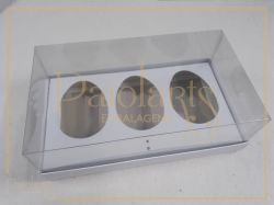 Cx. P/ 3 ovos de Colher 100 a 150g - Simples BRANCA
