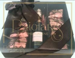 P/ Baby Chandon / Bebida + 24 bombons - Tampa Transparente e Fundo Cartonagem