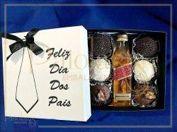 P/ 9 bombons ou Mini bebida - 11,0 x 11,0 x 4,0 - Dia dos Pais - Gravata