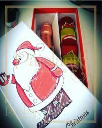 P/ Baby Chandon / Bebida + 06 bombons - Natal