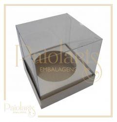 P/1 Mini Cupcake- Branco / Simples
