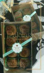 P/ 8 Macarons ou 8 Bombons - Tampa Transparente e Fundo Kraft
