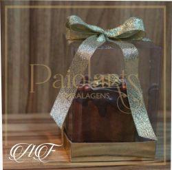 Mini Panetone - 8,5 x 8,5 x 12,0 - Ouro