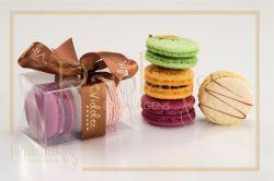 P/ 3 Macarons - 8,5 x 4,5 x 4,0 - Tampa e Fundo Transparente